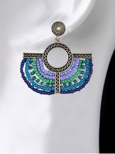 chic Beads Geometric Vintage Drop Earrings - BLUE  Mobile