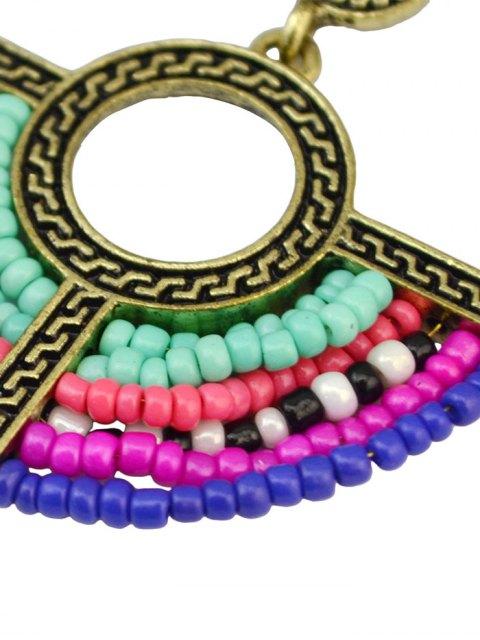 unique Beads Geometric Vintage Drop Earrings - COLORMIX  Mobile