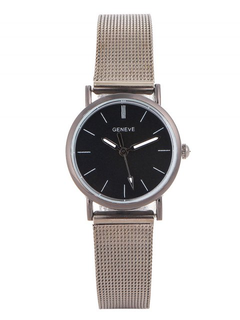 outfit Metal Mesh Band Analog Wrist Watch - SILVER  Mobile