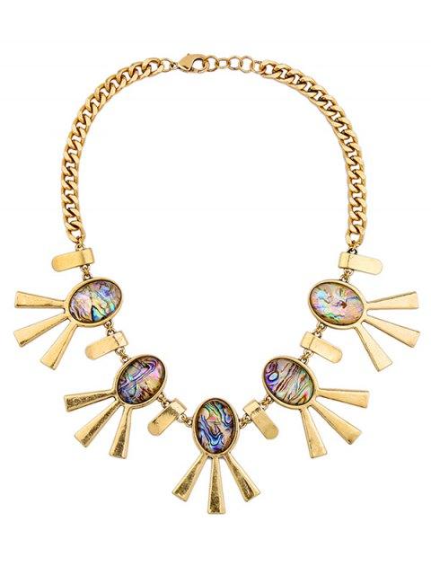 shops Artificial Gem Oval Adorn Vintage Necklace - COLORMIX  Mobile