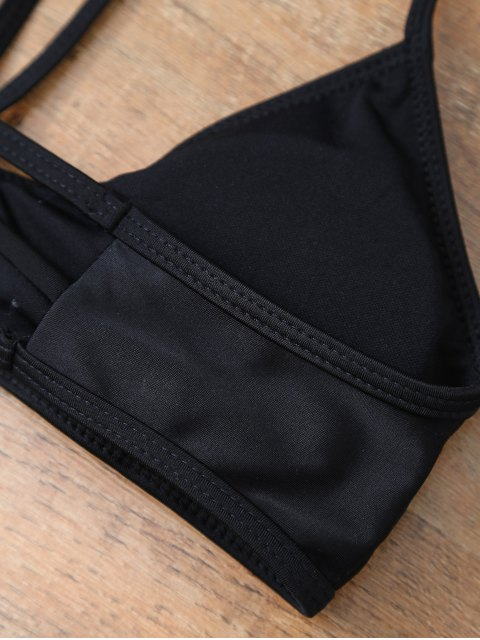 outfit Leaf Print High Waisted Bikini - BLACK S Mobile