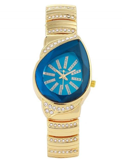 online Rhinestone Water Drop Quartz Watch - BLUE  Mobile