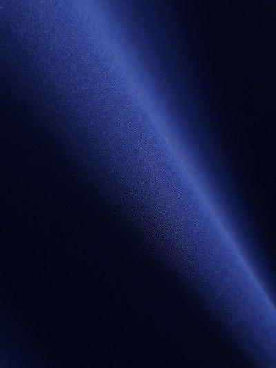 Striped Sleeve Bomber Jacket - BLUE 2XL Mobile