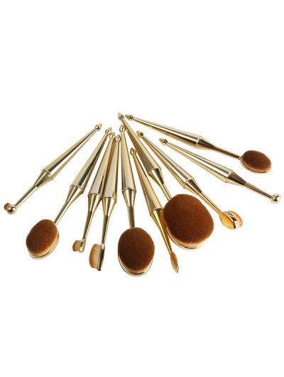 Mermaid Shape Makeup Brushes Set - GOLDEN  Mobile