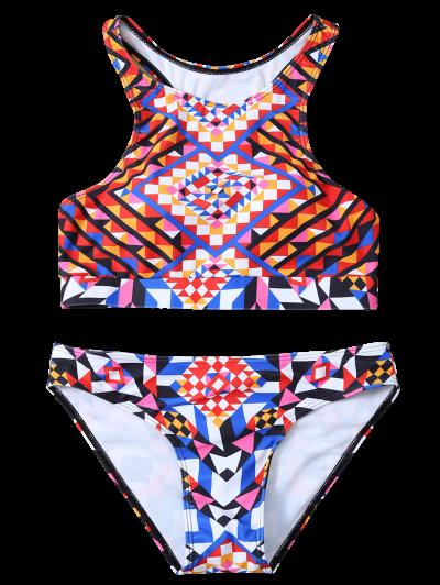 Geometric Ethnic Style Bikini Set - COLORMIX XL Mobile
