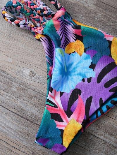 Cutout Floral Bikini Set - COLORMIX S Mobile