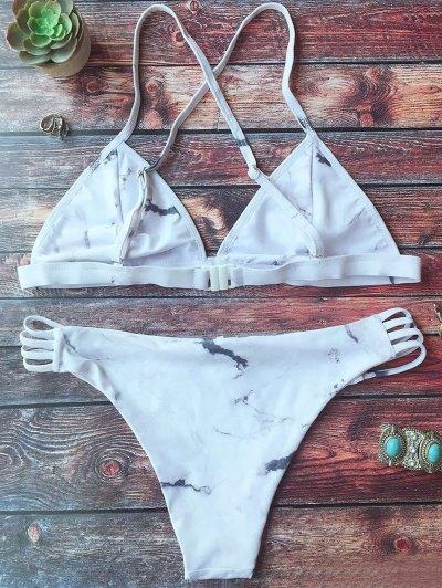 Cutout Double Side Bikini Set - WHITE S Mobile