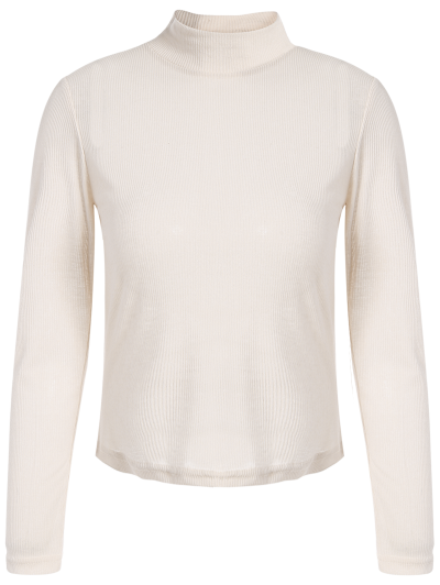 See-Through Cropped T-Shirt - APRICOT L Mobile