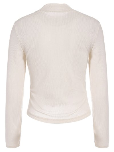 See-Through Cropped T-Shirt - APRICOT S Mobile