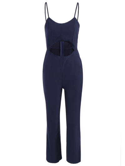 Cami Cut Out Cropped Jumpsuit - CADETBLUE 2XL Mobile