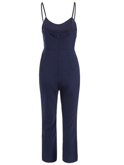 Cami Cut Out Cropped Jumpsuit - CADETBLUE M Mobile