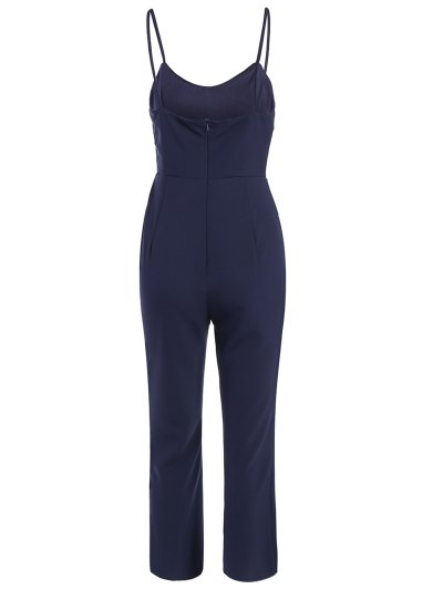 Cami Cut Out Cropped Jumpsuit - CADETBLUE S Mobile
