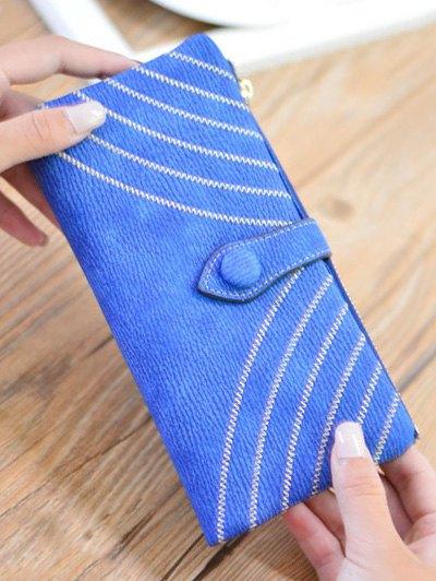 Stitching Tassel Clutch Wallet - BLUE  Mobile
