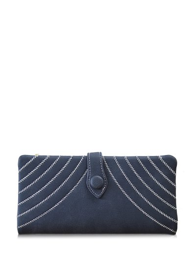 Stitching Tassel Clutch Wallet - BLACK  Mobile