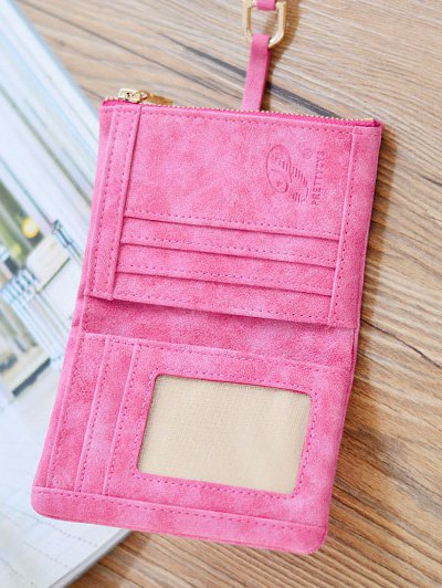PU Leather Bi Fold Small Wallet - BLUE  Mobile