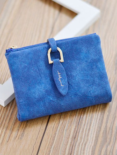 PU Leather Bi Fold Small Wallet - SAPPHIRE BLUE  Mobile