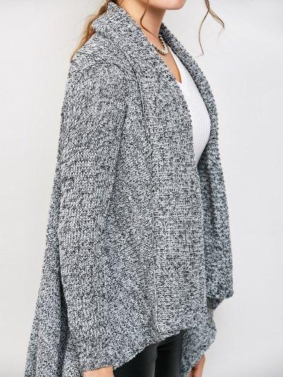 Drape Long Chunky Cardigan - GRAY ONE SIZE Mobile