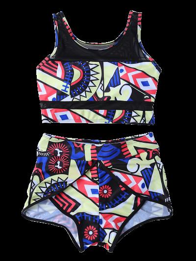 Printed Boyshort Bikini - MULTICOLOR S Mobile