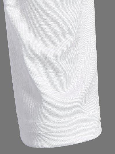 Alien Print Long Sleeve Bodysuit - WHITE S Mobile