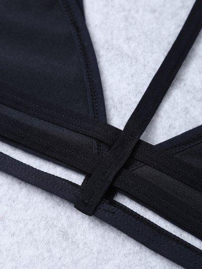 Unlined Cut Out Bra - BLACK XL Mobile