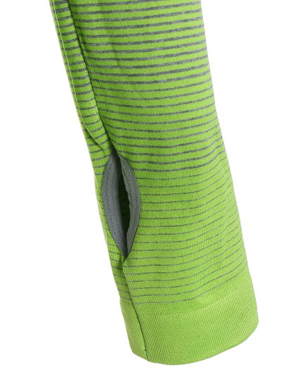 Long Sleeved Ombre Sports Tee - NEON GREEN L Mobile