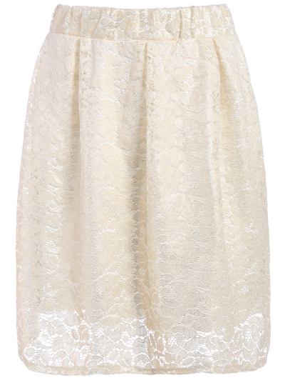 Floral Lace Skirt - PALOMINO M Mobile