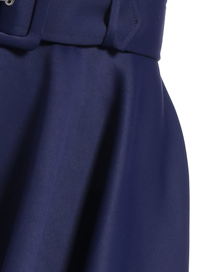 Hanky Hem Maxi Skirt - DEEP BLUE S Mobile