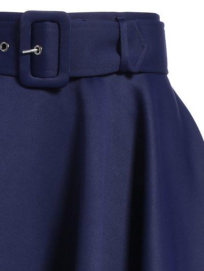 Hanky Hem Maxi Skirt - DEEP BLUE L Mobile
