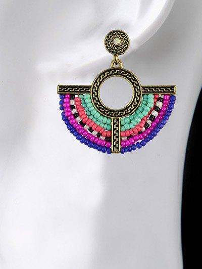 Beads Geometric Vintage Drop Earrings - COLORMIX  Mobile