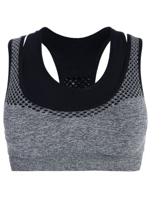 Double Layered Marled Sports Bra