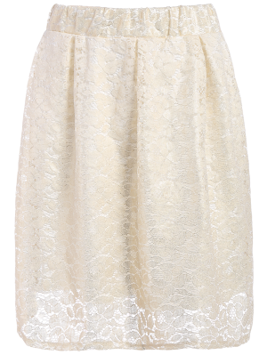 Floral Lace Skirt - Palomino
