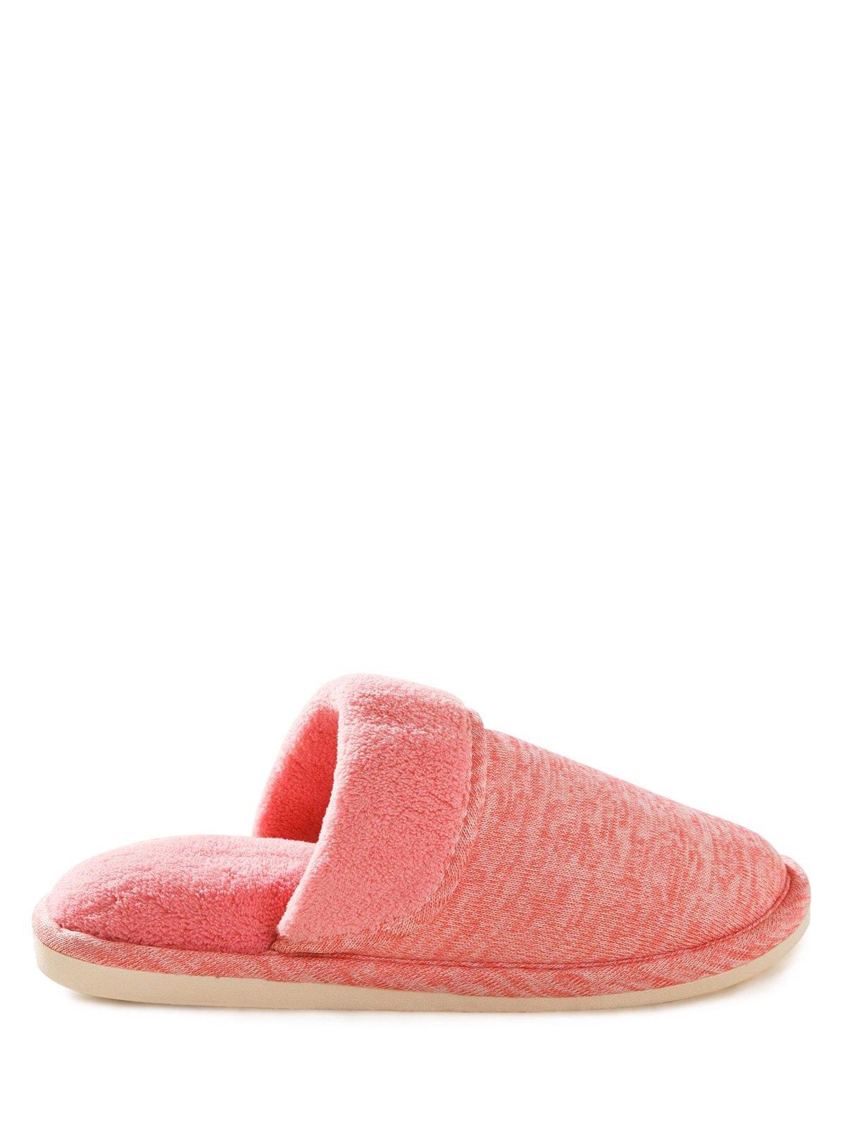 Flocking Flat Heel House Slippers