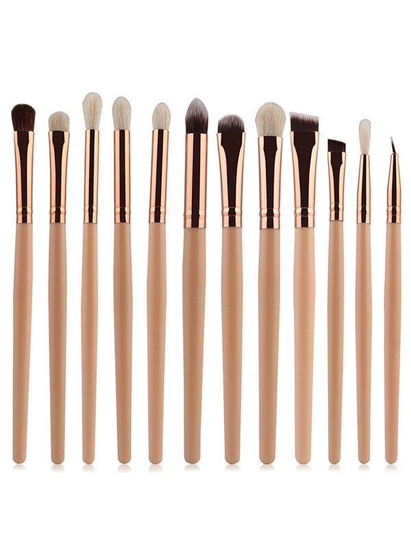 12 Pcs Goat Hair Eye Makeup Brushes Set