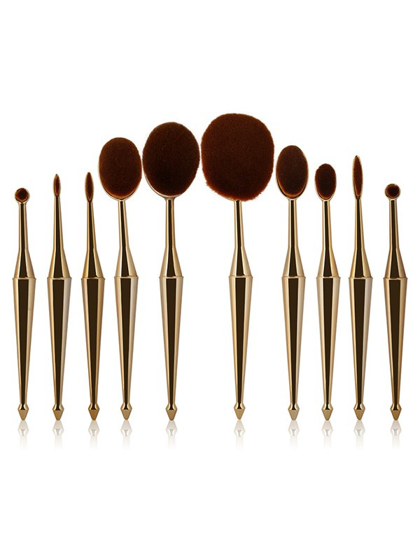 10 Pcs Nylon Mermaid Shape Makeup Brushes Set