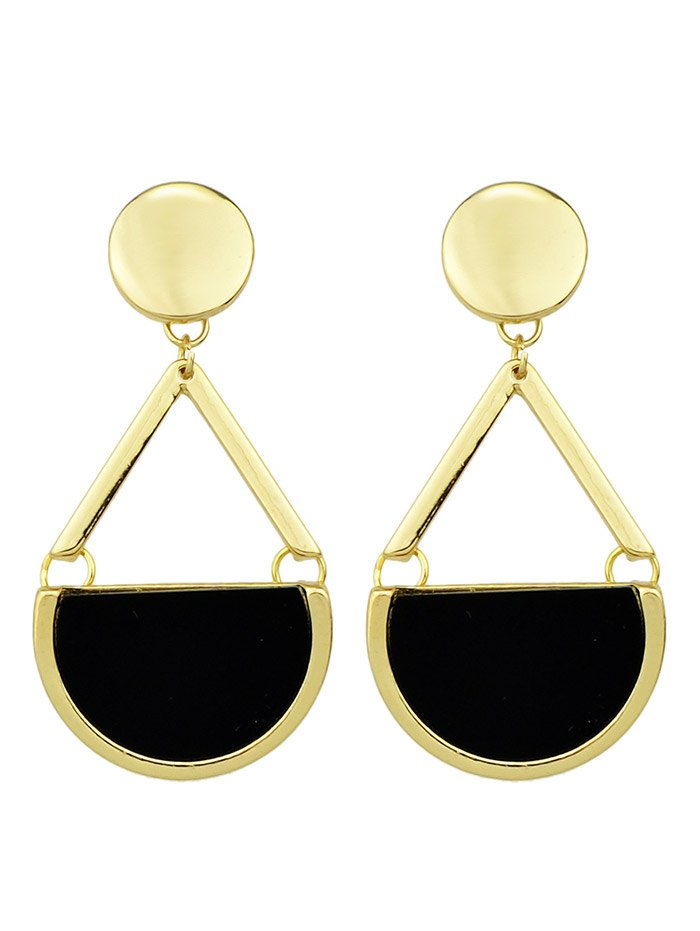 Vintage Circle Geometric Drop Earrings