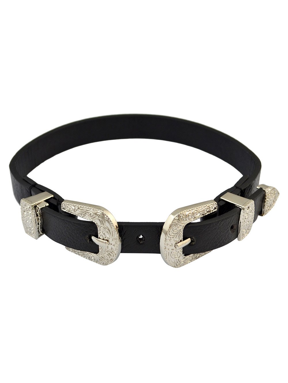 Artificial Leather Belt Shape Choker Necklace