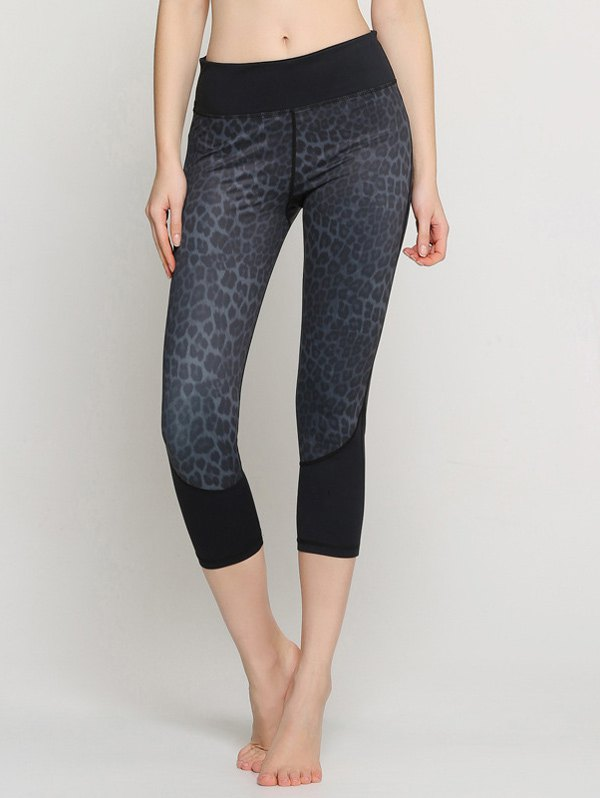 Capri Leopard Yoga Leggings