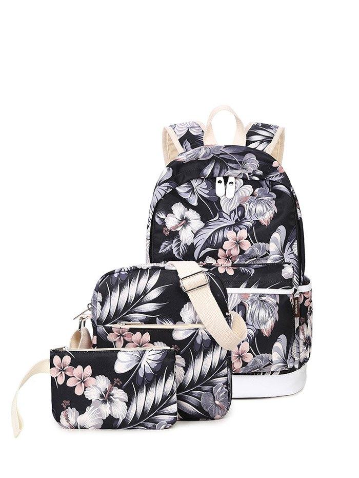 3 Pcs Flower Printed Backpack Set от Zaful.com INT