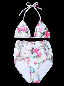 floral high waisted bikini - photo #45