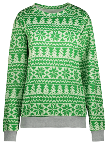 Snowflake Patterned Sweatshirt