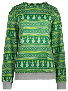 Snowman Patterned Sweatshirt