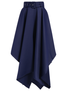 Hanky Hem Maxi Skirt - Deep Blue M