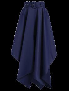 Hanky Hem Maxi Skirt - Deep Blue