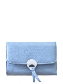 Buy Metal Embellished Tri Fold Small Wallet - LAKE BLUE