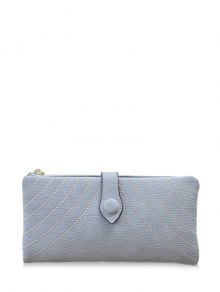 Stitching Tassel Clutch Wallet - Gray