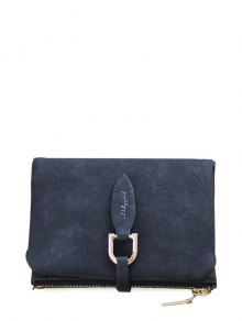 PU Leather Bi Fold Small Wallet - Black