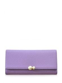 Buy Textured Tri Fold Clutch Wallet - PURPLE