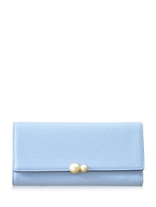 Buy Textured Tri Fold Clutch Wallet LIGHT BLUE