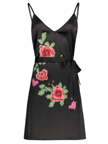 Mini Floral Embroidered Slip Dress
