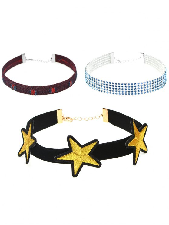 Round Star Geometry Faux Leather Necklace - #02  Mobile